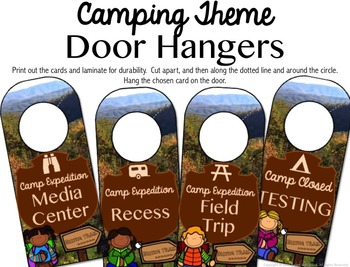 Door Hangers - Where Are We? (Camping Theme)