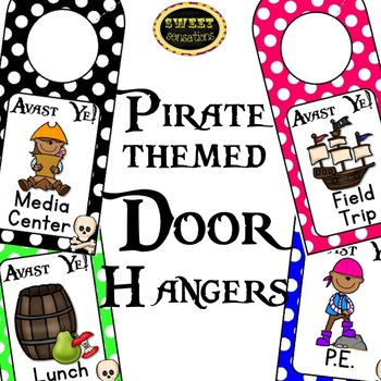Door Hangers - Where Are We? (Pirate Theme)