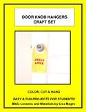 Kid Activities - Door Knob Hangers Craft Set (6)  Easy & Fun for Students to do!