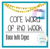 Door Sign - Core Word of the Week Display