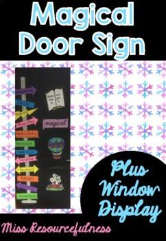 Door Sign Magical Adventure