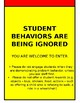 Door Sign - Please don't interrupt our Class