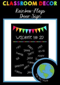 Door Sign - Rainbow Flags