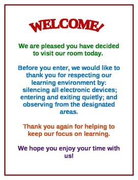 Door Sign for American Education Week