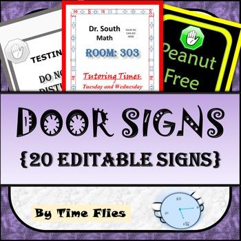 Door Signs - {20 Editable Signs}
