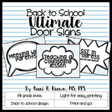 Door Signs - Back to School Theme