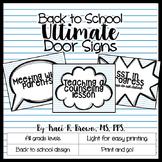 Door Signs - Back to School Theme
