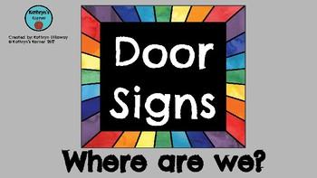 Door Signs (Black&Rainbow)