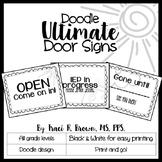 Door Signs - Doodle Theme