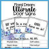 Door Signs - Floral Dream Theme