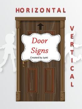 Door Signs - Horizontal / Vertical
