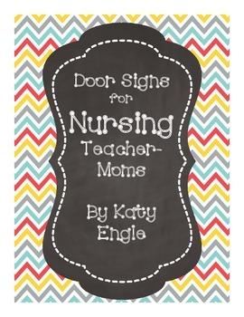 door signs for nursing teacher moms by katy engle tpt