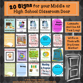 Door Signs: Middle and High School