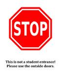 Door Stop Sign