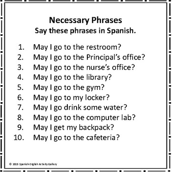 Door Busters-Bilingual Posters When Students Exit the Classroom