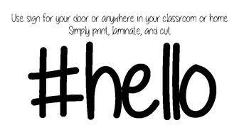 Door Tag #hello