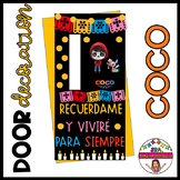 "Door decoration: ""Coco"" ENGLISH & SPANISH"