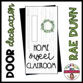 "Door decoration: ""Home Sweet Classroom"" ENGLISH"