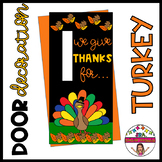"""Door decoration: """"We give thanks for..."""" ENGLISH & SPANISH"""