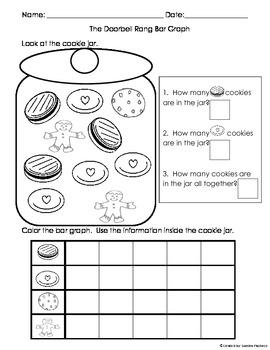 Doorbell Rang Graphing, Sorting, Writing Worksheets Bundle