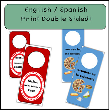 Doorhangers - Spanish / English 14 different doorhangers