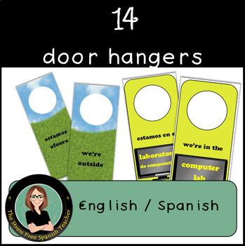 Doorhangers - Spanish / English 14 different doorhangers