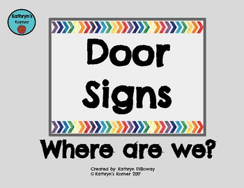 Doors Signs (Grey&Rainbow)