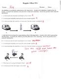 Doppler Effect Worksheet (for Physical Science)
