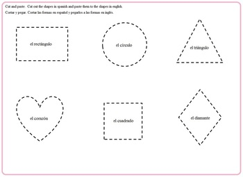 Dora the Explorer:  Shapes, Colors, Morning Bell Work, Spanish, English