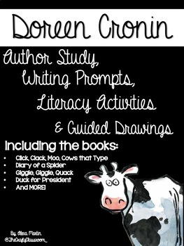Doreen Cronin Activity Bundle *Guided Drawings Included*