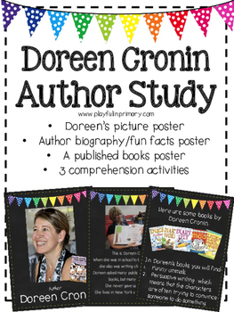 Doreen Cronin Author Study and Activities