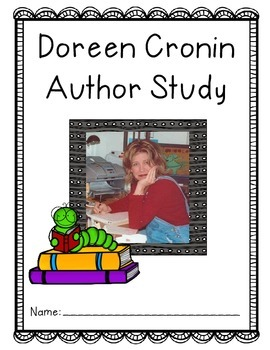 Doreen Cronin Reading Response Author Study
