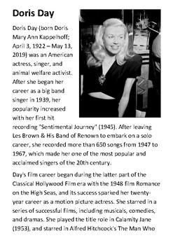 Doris Day Handout