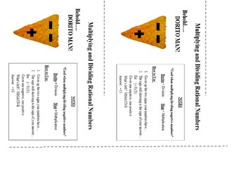 Dorito Man- Rules for Multiplying and Dividing Integers
