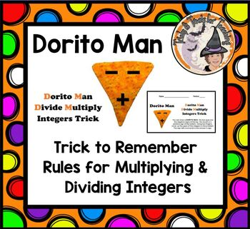 Dorito Man Trick Multiplying and Dividing Integers Multiply Divide Integer Rules