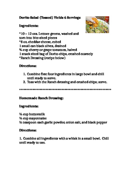 Dorito Salad Recipe