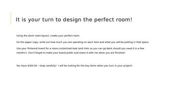 Dorm Living Project (AVID)