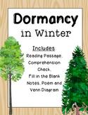 Dormancy in Winter {Reading Passage, Notes, Sort, Poem}