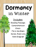 Dormancy in Winter {Reading Passage, Notes, Sort, Poem}