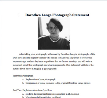 Dorothea Lange Photograph Recreation Project
