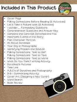 Dorothea's Eyes by Rosenstock 25 Book Extension Activities NO PREP