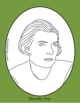 Dorothy Day Clip Art, Coloring Page or Mini Poster