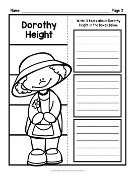 Dorothy Height Research Organizers for Black History Month