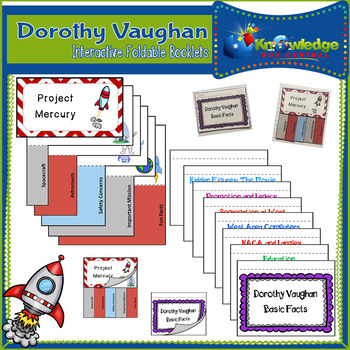 Dorothy Vaughan Interactive Foldable Booklets - Hidden Figures - Black History