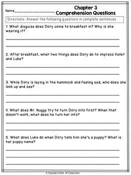 Dory Fantasmagory Novel Study
