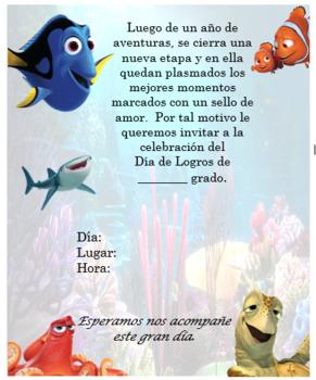 Dory & Nemo Invitation. Complete Editable!!!