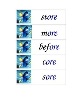 Dory Words_ r-controlled vowels