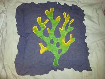 Dory inspired sea cushion