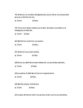 Dos Caras by Sabine Ulibarrí (Quiz)