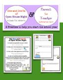 Dos & Don'ts of Open House  Parent to Teacher Info Sheet FREEBIE